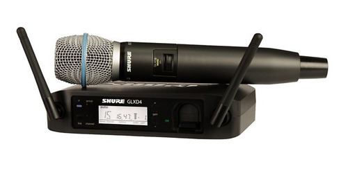 sistema de voz inalámbrico shure glx-d con beta 87a mic z2