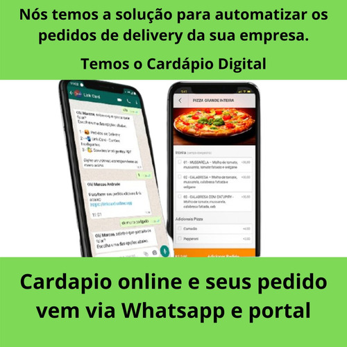sistema delivery integrado ao whatsapp