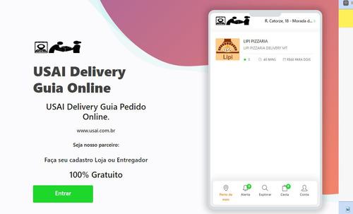 sistema delivery modelo ifood, app entregador  multi-lojas