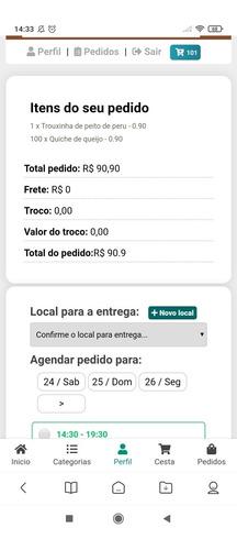 sistema delivery web responsivo