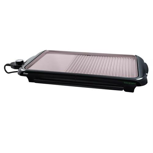 sistema dual de plancha-parrilla eléctrica para asar oster®