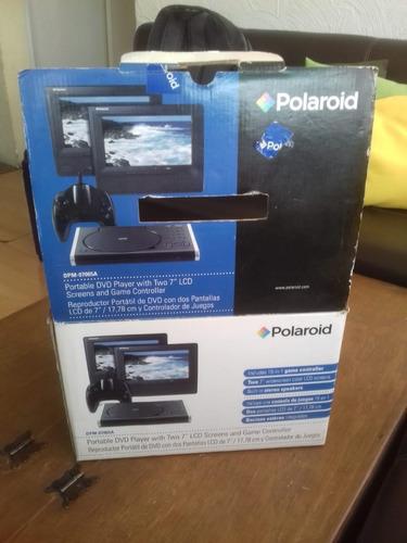 sistema dvd portatil para auto o casa con 2 pantallas