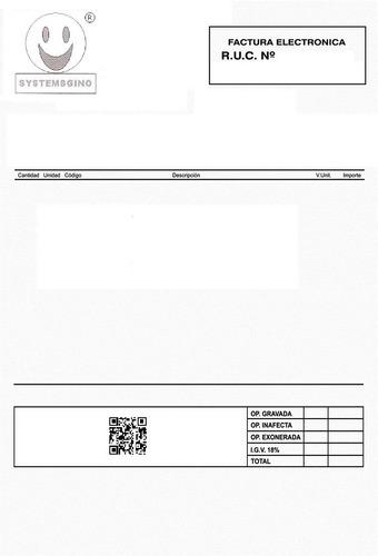 sistema electrónico facturación y inventario (un solo pago)