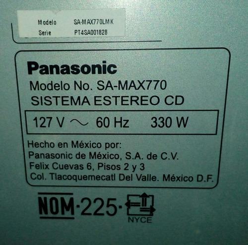 sistema estereo panasonic sa-max770