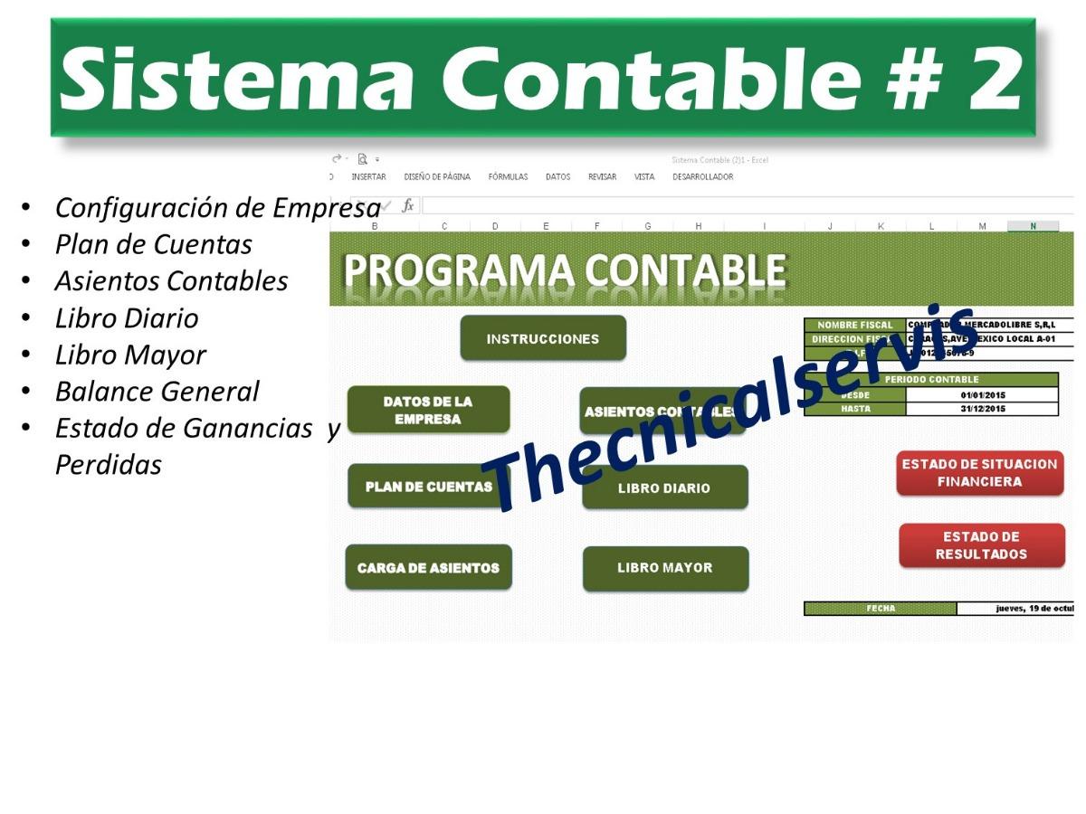 Sistema Excel Contable Contabilidad Hoja Trabajo Diario Mayo - Bs ...