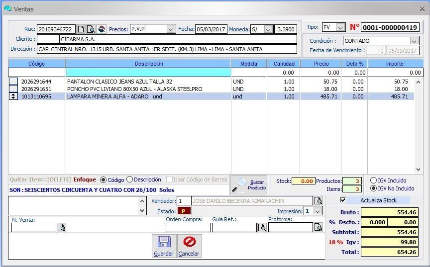 bc1d543bd Sistema Facturacion Ventas Inventario - My Sql Server - U$S 200,00 ...