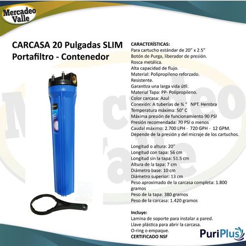 sistema filtro agua slim 20  control hierro, katalox light