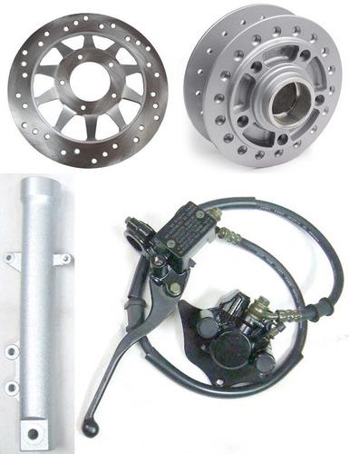 sistema freio dianteiro cg titan 150 canela pinça cubo disco