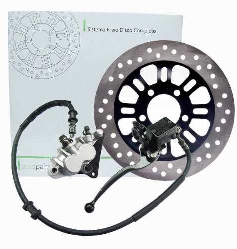 sistema freio titan150, fan150 2009 à 2016 disco scud