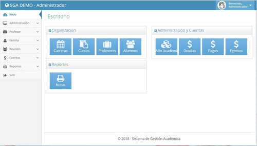 sistema gestión académica, intranet, colegio, instituto.