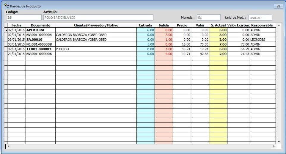 Formatos De Inventarios Para Almacen Sistema Gestion