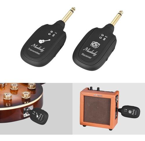 sistema inalámbrico de transmisor y receptor p/guitarra uhf