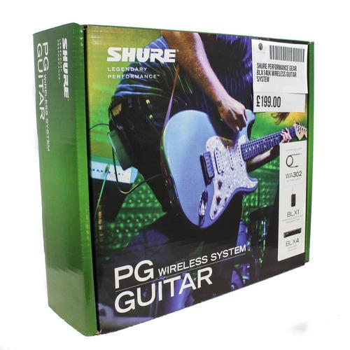 sistema inalambrico p/guitarra o bajo shure blx14