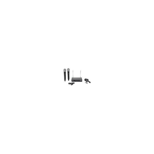 sistema inalámbrico vhf portátil de doble canal samson stage