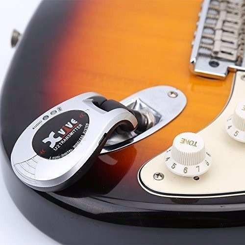 sistema inalámbrico xvive u2 guitarra bajo azul
