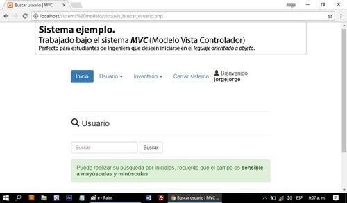 sistema informatico de inventario para web sencillo mvc 2017