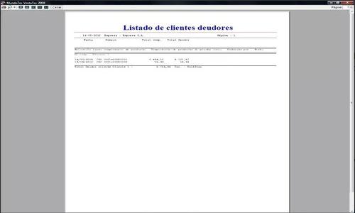 sistema informatico gestión compras ventas cta. cte. almacen