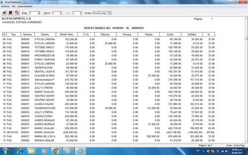sistema inventario facturas ventas bancos y compras windows