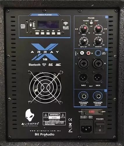 sistema lineal alien x array subwoofer 18 bluetooth super $