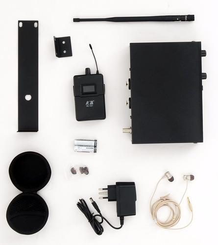 sistema monitor in ear retorno palco sem fio ponto multiband