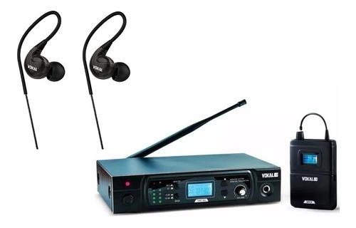 sistema monitor retorno s/fio vokal vmt50 uhf + fone e40