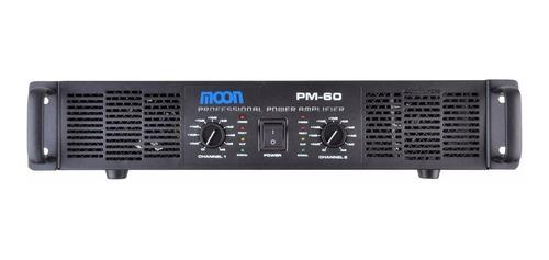 sistema musica funcional potencia moon pm60 + 8 bafles negros esdj