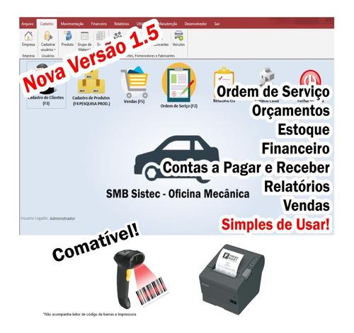 sistema oficina mecânica com ordem de serviço, vendas, estoq