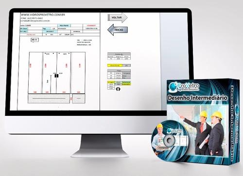 sistema p/ cálculo e projeto de vidro temperado