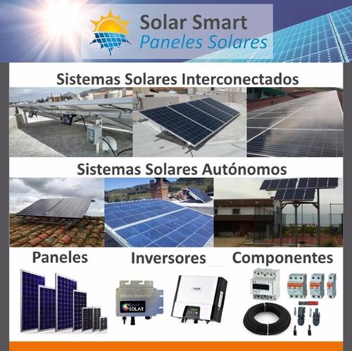 sistema panel solar autonomo isla 2000wh diarios