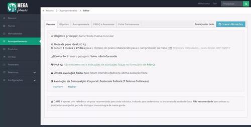 sistema para academia controle de mensalidades php mysql