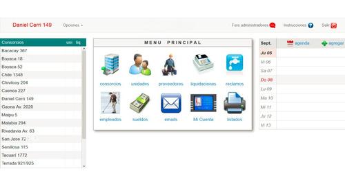sistema para administracion de consorcios online