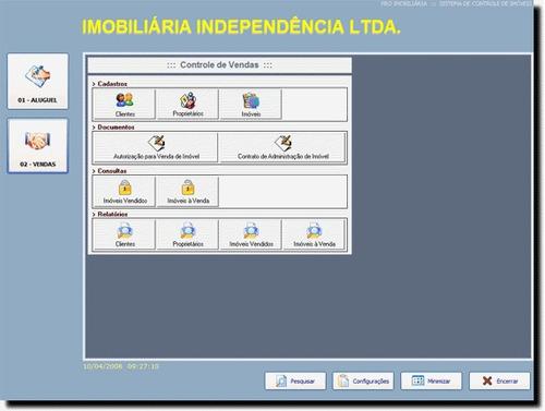 sistema para administração imobiliaria - aluguel + fontes