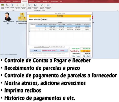 sistema para assistência técnica, ordem serviço, vendas top