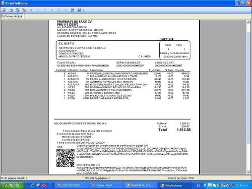 sistema para factura electronica, timbrado, cfdi, timbres