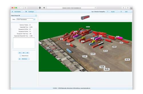 sistema para gestión de patios de contenedores marítimos