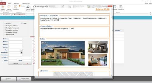sistema para inmobiliaria
