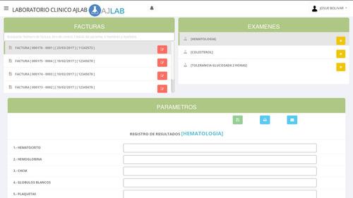sistema para laboratorio clinico ajlab