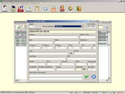 sistema para livro caixa e conta corrente v1.0 - fpqsystem