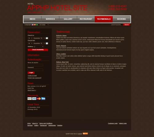 sistema para pousadas e hotéis em php