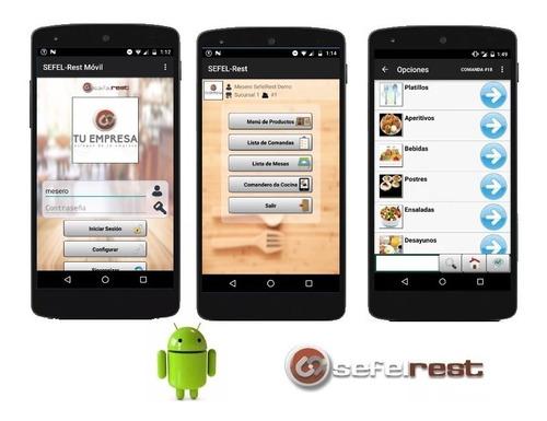 sistema para restaurantes con comandero android