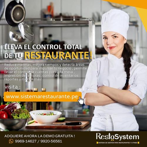 sistema para restaurantes con facturacion gratis
