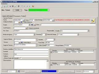 sistema para servicios tecnicos talleres garantia rma sg ll