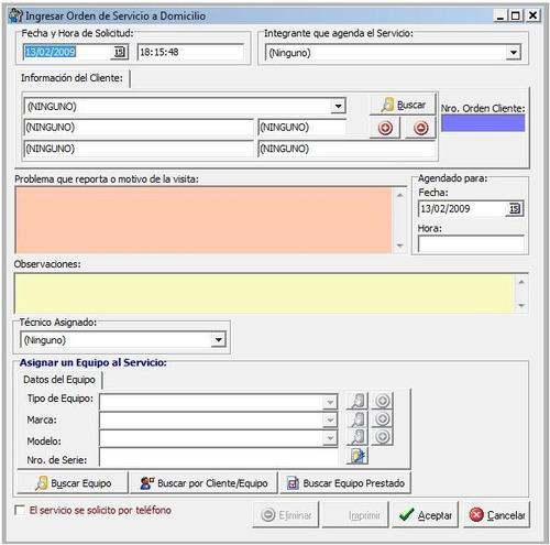 sistema para servicios tecnicos talleres garantia rma sg uu