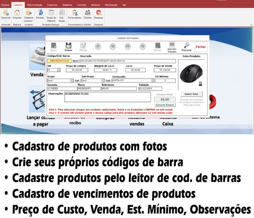 sistema pdv, controle de estoque, frente caixa, carne,vídeo