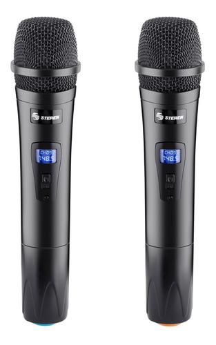 sistema profesional de 2 micrófonos inalámbricos |wr-810 uhf