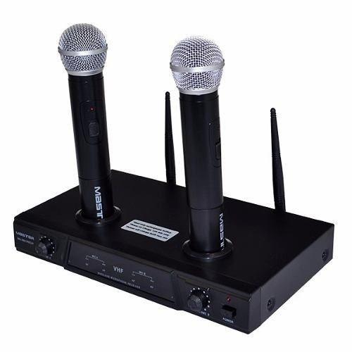 sistema profesional microfonos inalambricos recargables vhf