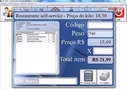 sistema programa software para hotel, pousada e chales