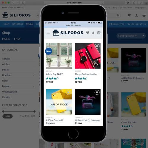 sistema punto de venta + página web con tienda virtual