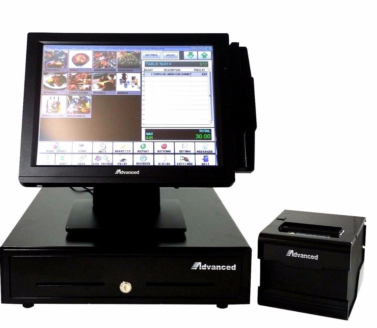 Sistema Punto Venta Monitor Touch Screen Impresora Caja