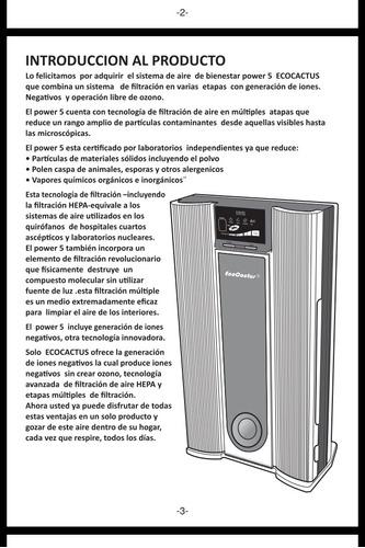 sistema purificador de aire / ecocactus (como nuevo)